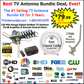 150 Mile TV Antenna Bundle Kit